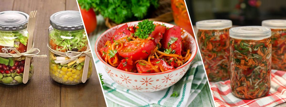 Салаты из овощей на зиму 367 рецептов