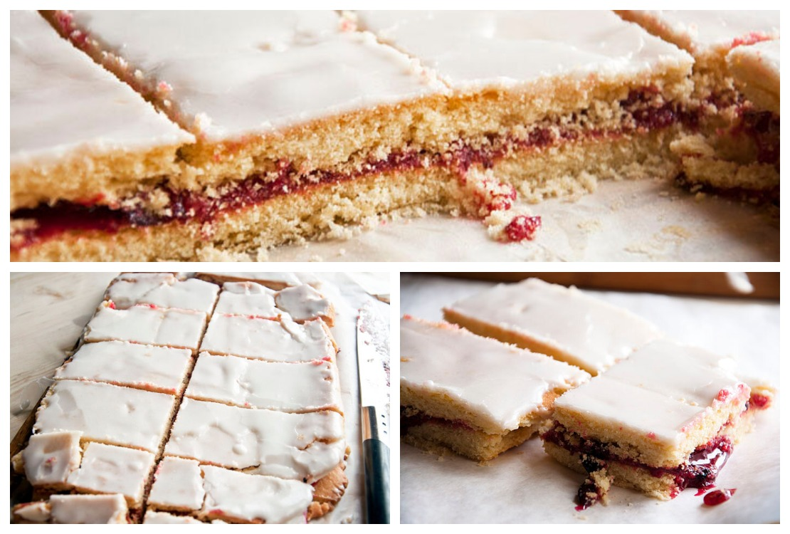 пирожное Школьное с ягодным вареньем
