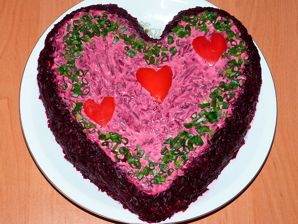 салат в виде сердца рецепт с фото будто