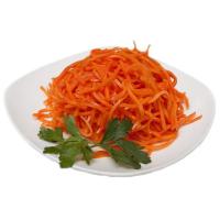 тарелка с корейской морковью
