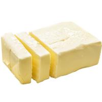 сливочное масло нна белом фоне