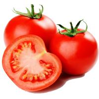 два с половиной помидора на белом фоне