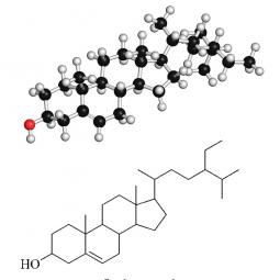 структурная и химическая формула Бета Ситостерола