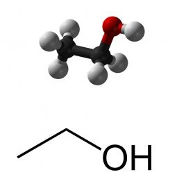 структурная и химическая формула этилового спирта