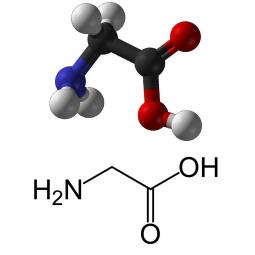 структурная и химическая формула глицина
