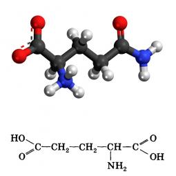 структурная и химическая формула глутаминовой кислоты