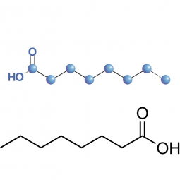 структурная и химическая формула каприловой кислоты