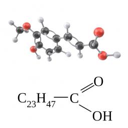 структурная и химическая формула лигноцериновой кислоты