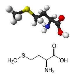 структурная и химическая формула метионина