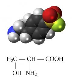 структурная и химическая формула серина