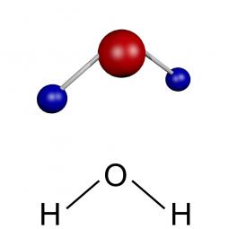 структурная и химическая формула воды