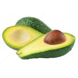 разрезанный авокадо на белом фоне
