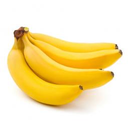 связка бананов на белом фоне