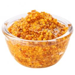 тарелка с зерновой горчицей