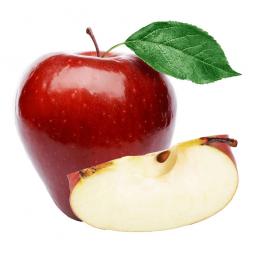 красное яблоко и яблочная долька