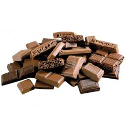 кусочки молочного шоколада