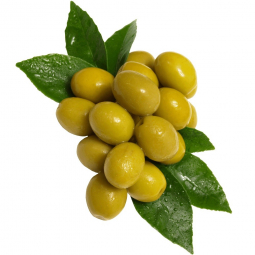оливки на белом фоне