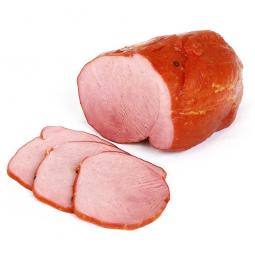 нарезанная ломтиками копченая свинина