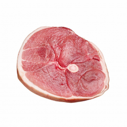 сырой свиной окорок с косточкой