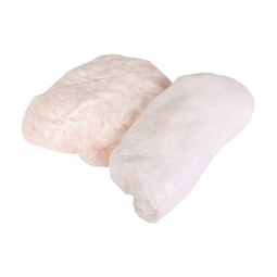свиной жир на белом фоне