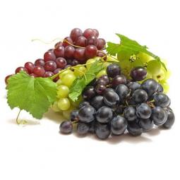 кисти винограда на белом фоне