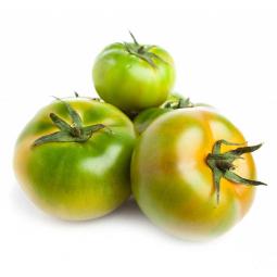три зеленых помидора на белом фоне