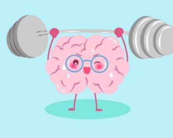 нарисованный мозг со штангой