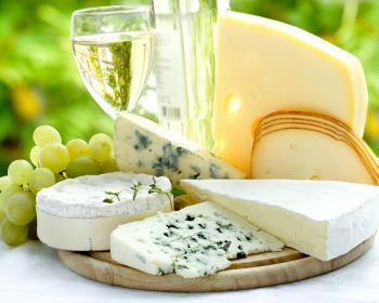вино, виноград и сыры
