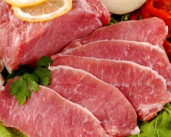 слайсы свежего мяса