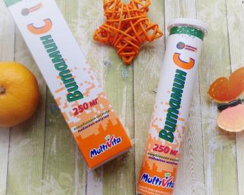 упаковка с таблетками витамина С