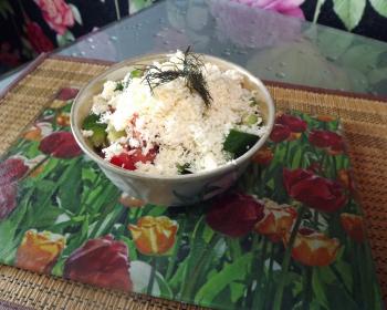 шопский салат в пиале