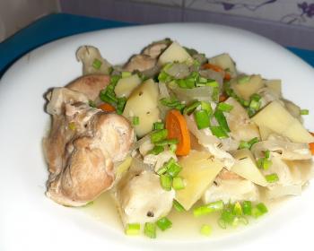 штрудли по-немецки с картофелем и курицей