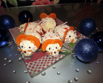 сырная закуска «Мышки» с крабовыми палочками