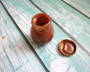 баночка с соленой карамелью