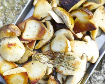 грибы боровики жаренные половинками
