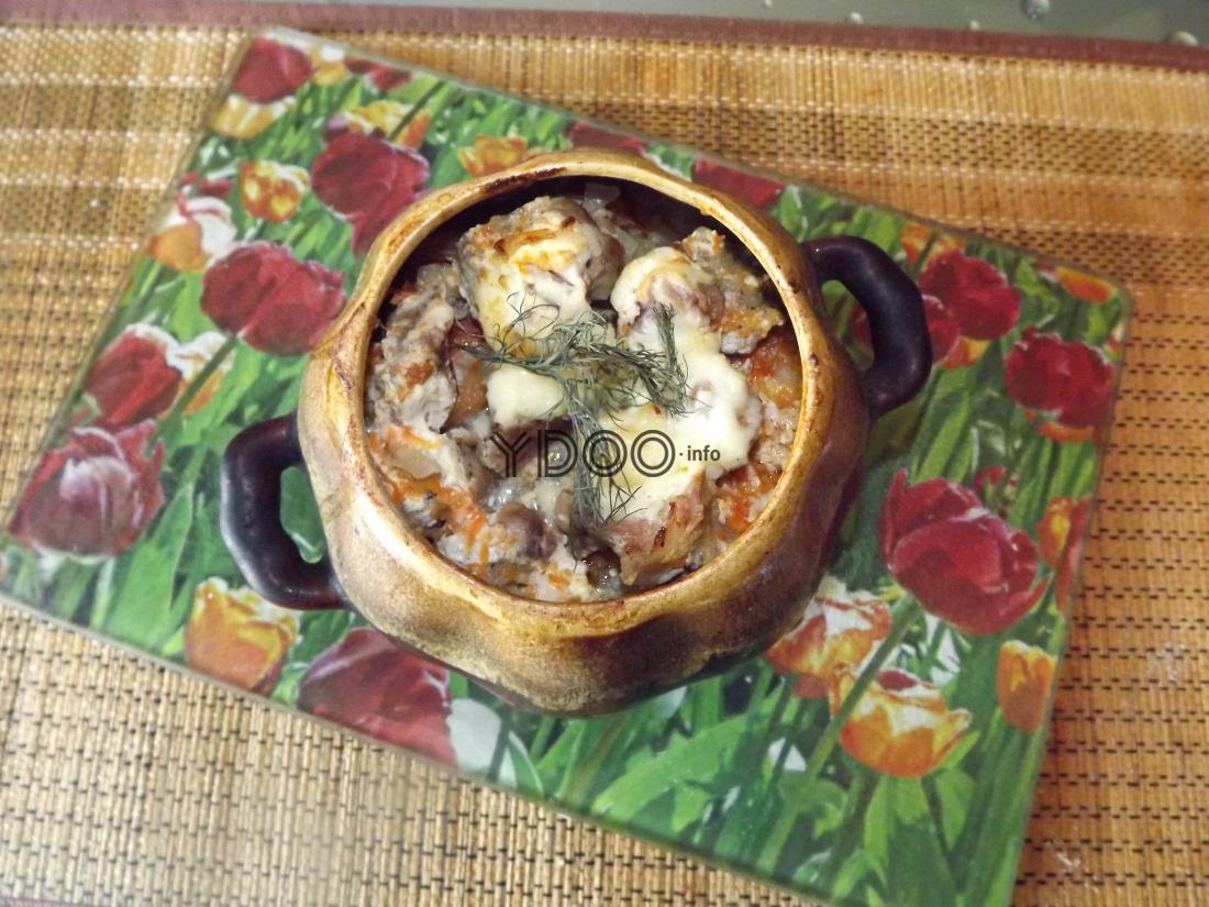 жаркое из свинины с картошкой в горшочке