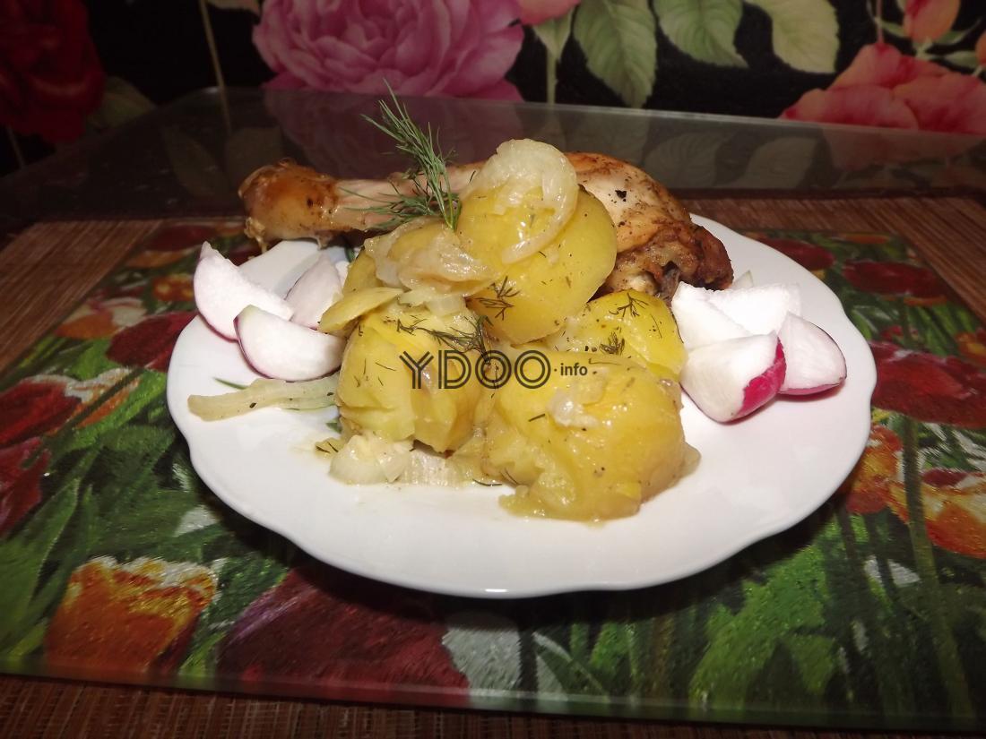 курица с картошкой, запеченная в рукаве в духовке