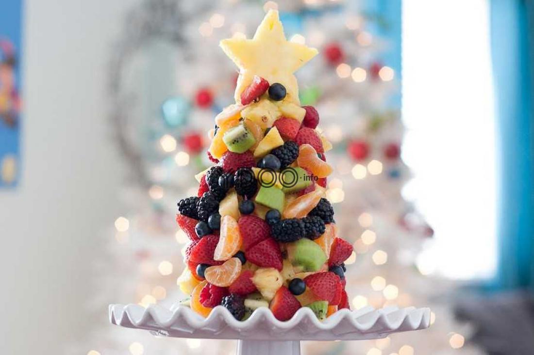 Елочка из фруктов в картинках